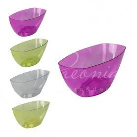 Кашпо пластиковое прозрачное желтое COUBI ORCHID DUMS360P 36*15*13,2см