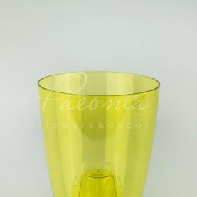 Кашпо пластикове прозоре жовте COUBI ORCHID DUOW130P Ø13,2см h16см