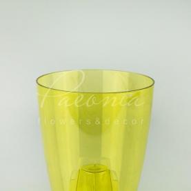Кашпо пластикове прозоре жовте COUBI ORCHID DUOW160P Ø16см h18,3см