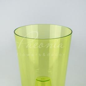 Кашпо пластикове прозоре зелене COUBI ORCHID DUS130P Ø13см h17см