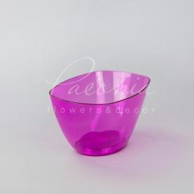 Кашпо пластикове прозоре рожеве COUBI ORCHID DUMS200P 19,8*13*10,2см