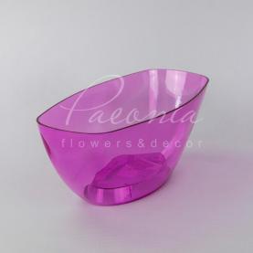 Кашпо пластикове прозоре рожеве COUBI ORCHID DUMS360P 36*15*13,2см