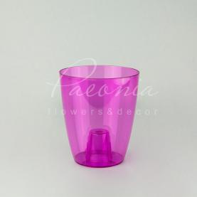 Кашпо пластикове прозоре рожеве COUBI ORCHID DUOW160P Ø16см h18,3см