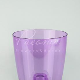 Кашпо пластиковое прозрачное фиолетовое COUBI ORCHID DUOW160P Ø16см h18,3см