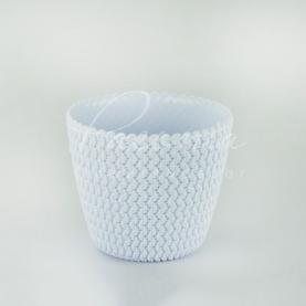 Кашпо пластикове світло-сіре Splofy DSP130 L Ø13см h10,8см