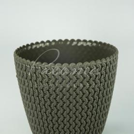 Кашпо пластиковое темно-коричневое Splofy DSP160 L Ø15,7см h13,2см