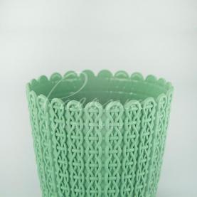 Кашпо пластикове фісташкове NITLY DNY190L Ø18,8см h15,8см