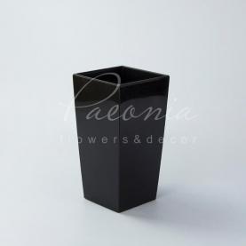 Кашпо пластикове чорне URBI SQUARE P DURS140P 14*14*26,5см