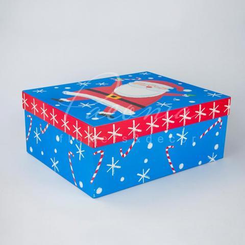 Коробка для подарков из картона прямоугольная 40*32*16см новогодняя