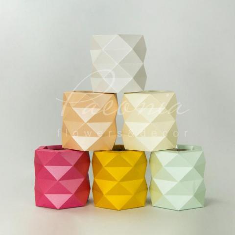 Коробка оригами микс цветов 18см*18см