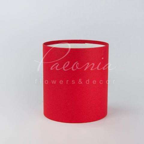 Коробка шляпная для цветов б/крышки красная 15см*17см