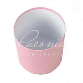 Коробка шляпная для цветов б/крышки розовая 15см*17см