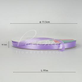 Стрічка атласна лавандова матова 1см*91м