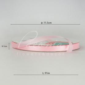 Лента атласная розовая матовая 1см*91м