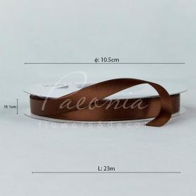 Стрічка атласна світло-коричнева матова 1см*23м