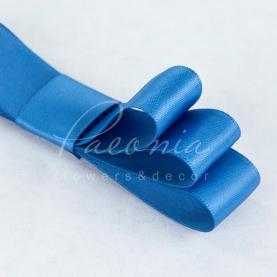 Стрічка атласна синя матова пастЯлина 2см*23м