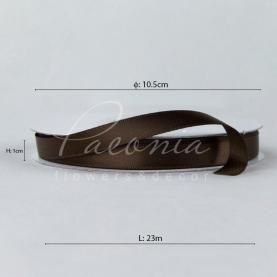 Стрічка атласна шоколадна матова 1см*23м