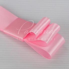 Лента атласная ярко-розовая матовая 2,5см*46м