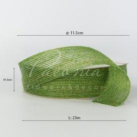 Стрічка з мішковині зелена 3см*14м
