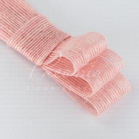 Стрічка з мішковини ніжно-рожева 3см*14м