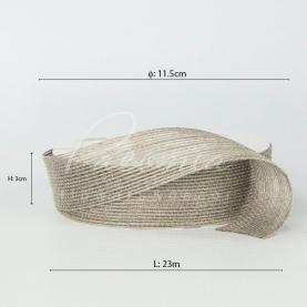 Лента из мешковины серебристая 3см*14м