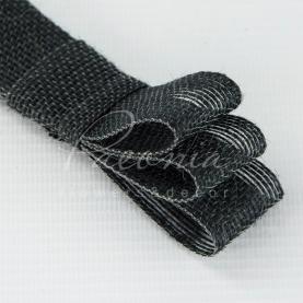 Стрічка з мішковини чорна 3см*14м