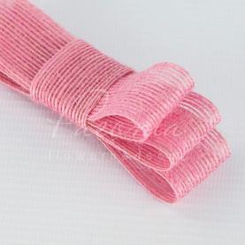 Стрічка з мішковини яскраво-рожева 3см*14м