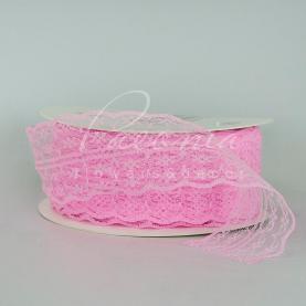 Стрічка мереживна рожева 4,5см*46м