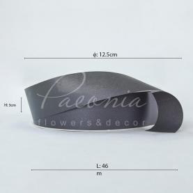 Лента полипропиленовая темно-серая матовая 3см*46м