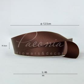 Стрічка поліпропіленова шоколадна матова 3см*46м