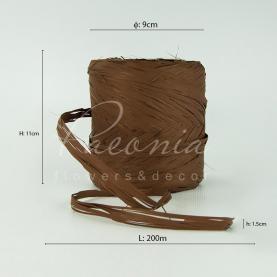 Стрічка рафія коричнева 200м