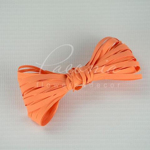 Лента рафия оранжевая 200м
