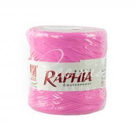 Лента рафия ярко-розовая (200м)