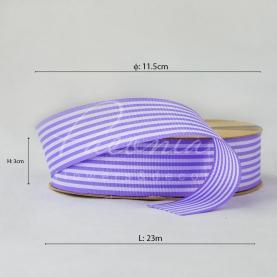 Стрічка Флористична 3см*23м репсова смужка лавандовий