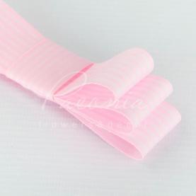 Стрічка Флористична 3см*23м репсова смужка ніжно-рожевий