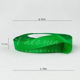 Стрічка репсова 1,2см 18м зелений