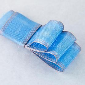 Стрічка Флористична 3см*14м репсова з кантом блакитний