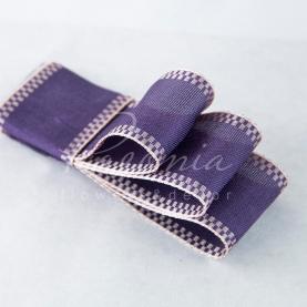 Стрічка Флористична 3см*14м репсова з кантом фіолетовий