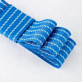 Стрічка Флористична 3см*23м репсова з смужкою-рядком блакитний