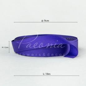 Лента репсовая фиолетовая 1,2см*18м