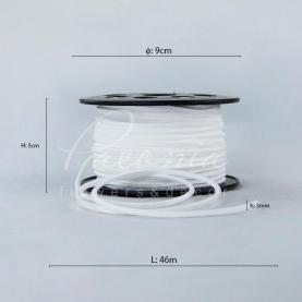 Стрічка флористична замшева тонка біла 3мм * 46м