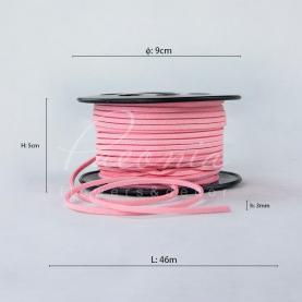 Стрічка Флористична 3мм*46м тонка замшева ніжно-рожевий