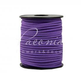Лента флористическая 3мм*46м тонкая замшевая фиолетовый