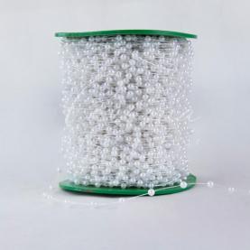 Лента флористическая жемчуг 4мм-120м прозрачный