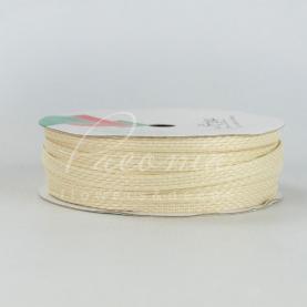 Стрічка флористична плетена бежева 0,6 см * 33м