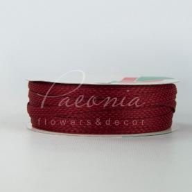 Стрічка Флористична плетена 0,6см*33м винний