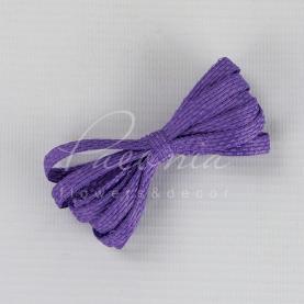 Стрічка флористична плетена лавандова 0,6 см * 33м