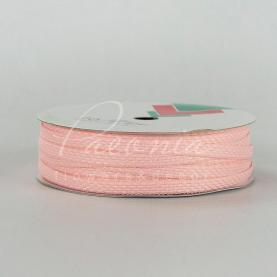 Стрічка Флористична плетена 0,6см*33м ніжно-рожевий