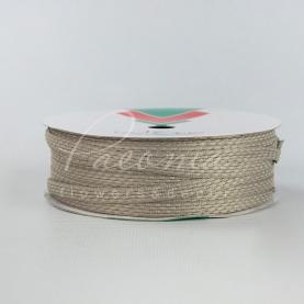 Стрічка Флористична плетена 0,6см*33м пісочний