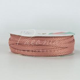 Стрічка Флористична плетена 0,6см*33м пудровий